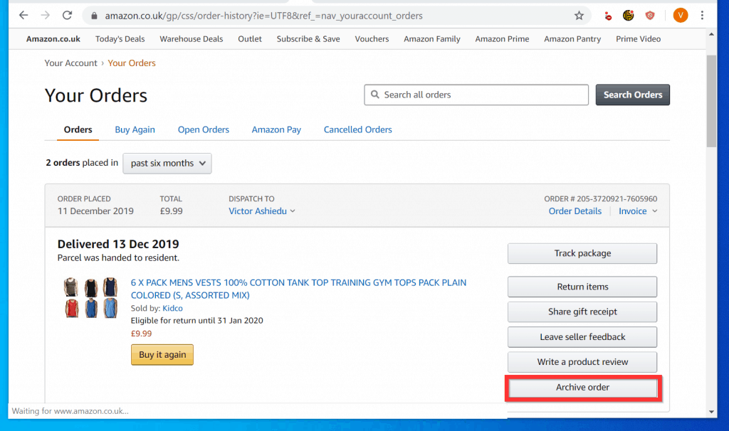 How to Delete Amazon Order History from a PC