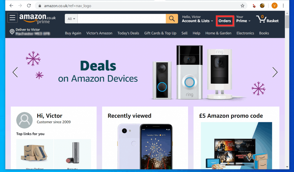 How to find Archived Orders on Amazon from Your Orders (Method 2)