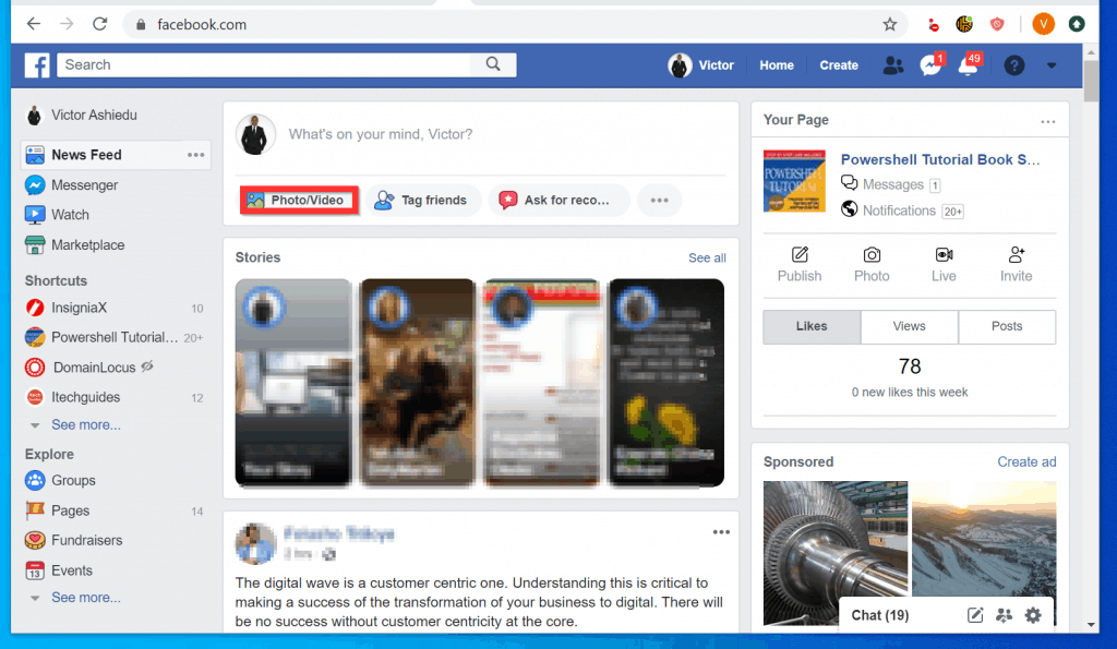 How to Post Pictures on Facebook from a PC