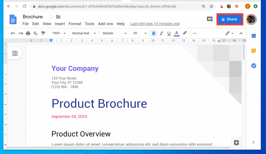 How to Transfer Ownership of a Google Doc - Share the File with the New Owner