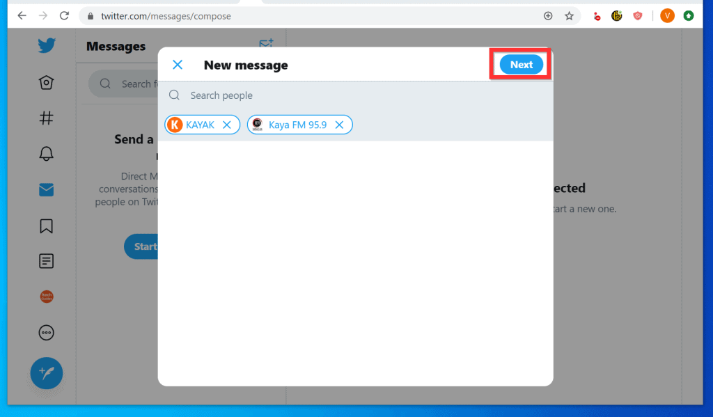 How to DM on Twitter from a PC (Twitter.com)