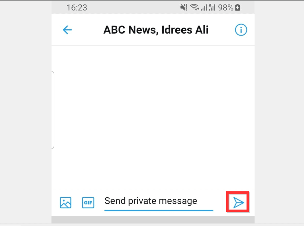 How to Private Message on Twitter from Android