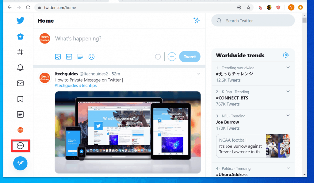 How to Logout of Twitter App from a PC