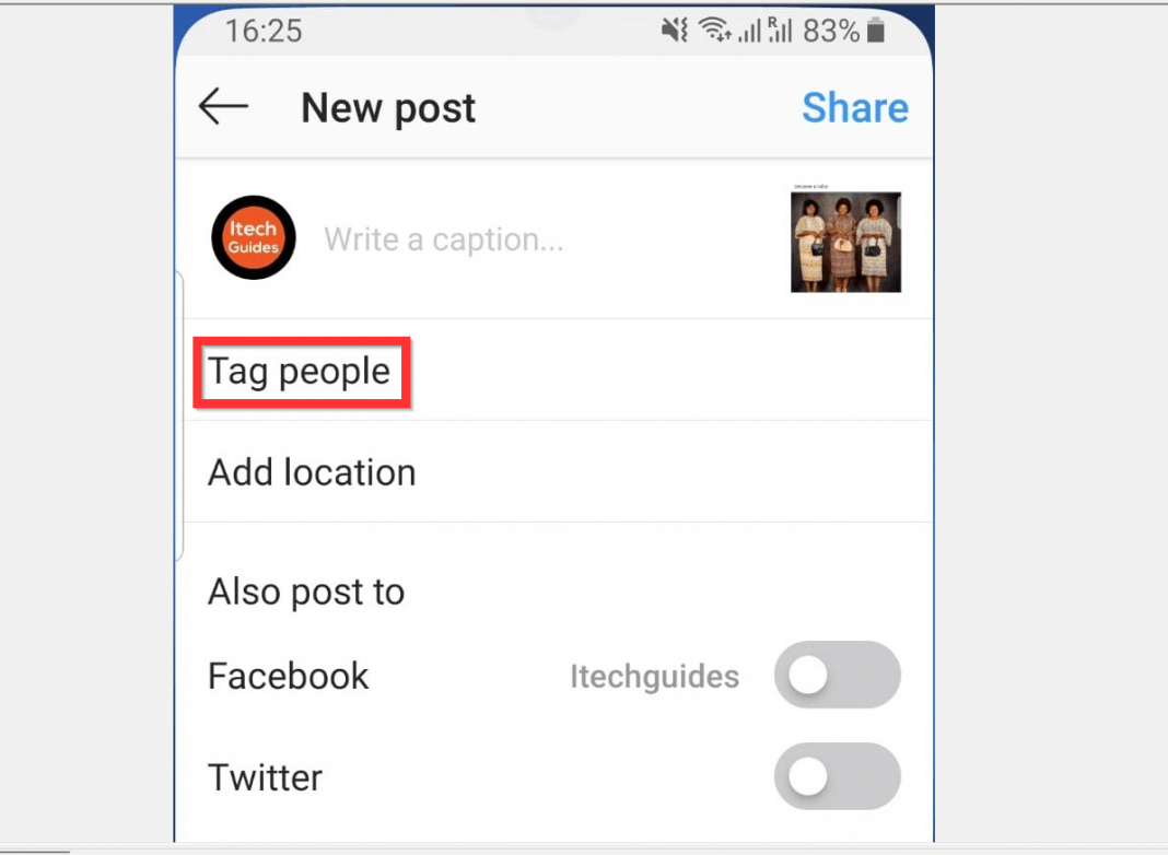How to Tag Someone on Instagram from Android