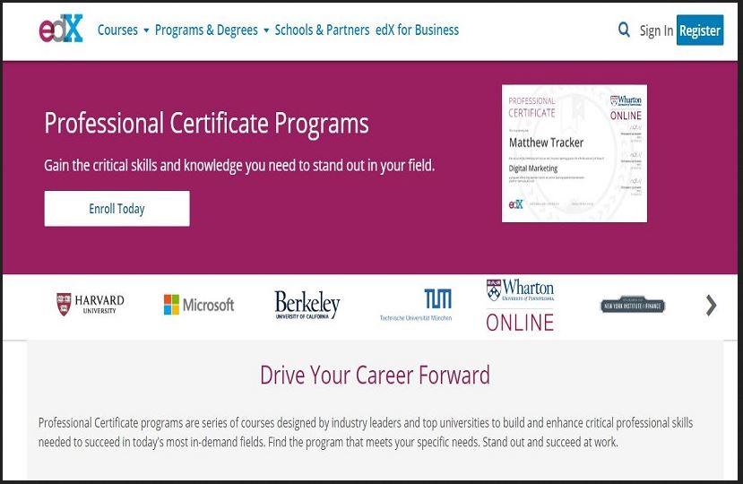 certificate programs edx