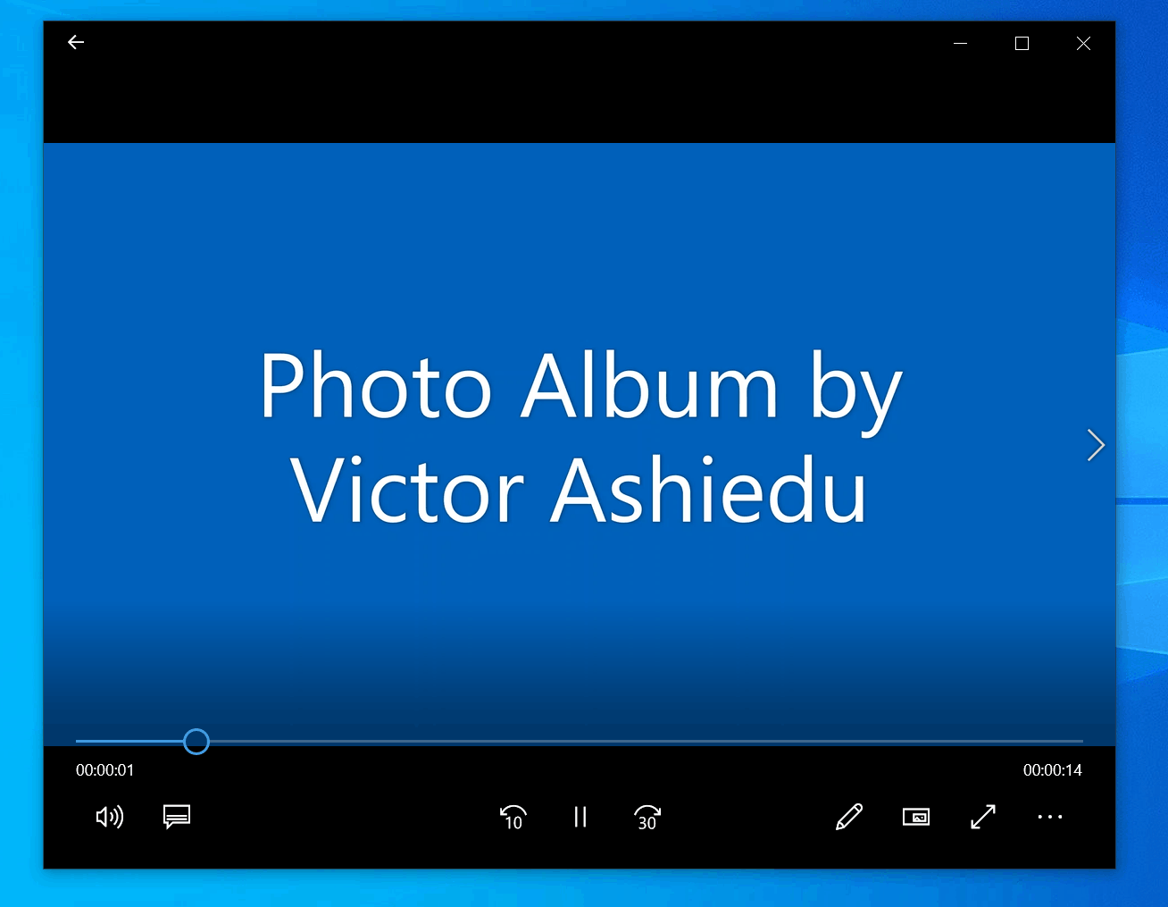 How to Make a Slideshow on Windows 10 with Photos App